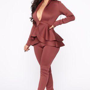 Fashion Nova | NWT Penelope Scuba Set | Red
